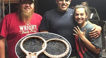 Newlyweds Reunited With Wedding Rings 8 Days After Tornado Obliterates Their Home